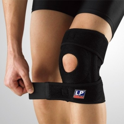LP 733CA with Stays Extreme Knee Support (Free Size, Black)