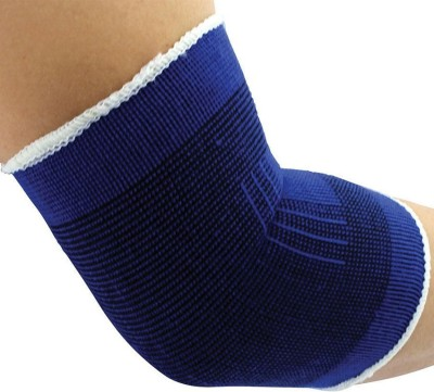 Fancy Steps Firm Compression Elbow Support (L, Blue)