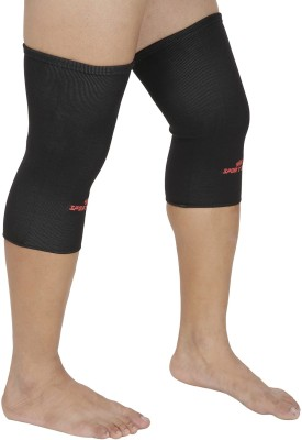 SportSoul Premium Compression Knee Support (L, Black)