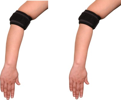 Applikon Combo Of Tennis Elbow Elbow Support (Free Size, Black)