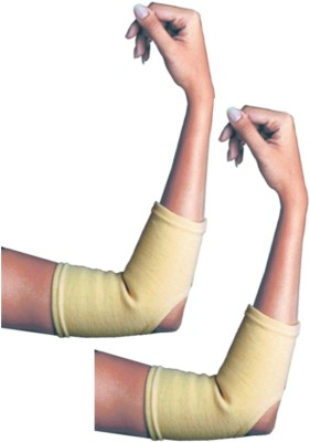 Veloz Fitness Gear Cap Cotton Elbow Support (L, Beige)