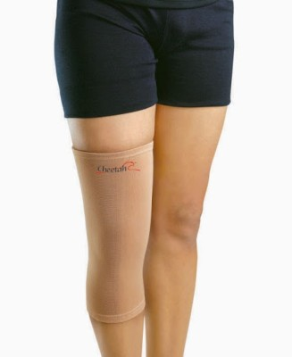 Cheetah Knee Support (Twin Pack) Knee Support (M, Beige)