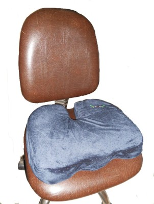 SOS Coccyx Memo Foam Seat Hip Support (Free Size, Blue)