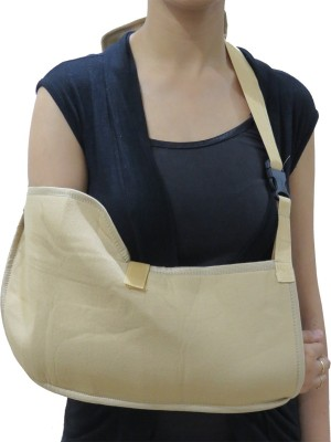 Acco Pouch Arm Sling Elbow Support (XL, Beige)