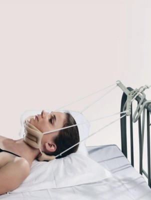 Tynor Cervical Traction Unit Device -New- Easy Home Use. G26- Sleeping Neck Support (Free Size, Grey)