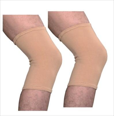 Veloz Nylon Cap Knee Support (L, Beige)