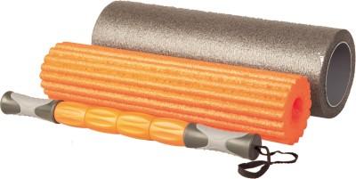 Liveup Foam Roller Set (Grey, Orange)