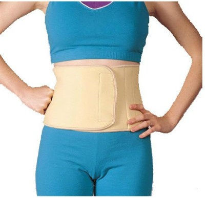 Turion Waist Trimmer Neoprene Beige Back & Abdomen Support (L, Beige)
