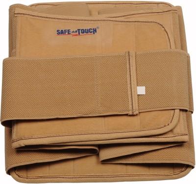 SafeAnBTouch Countered Lumbo Sacrel Back Support (L, Beige)