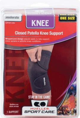 Mueller Neoprene Blend Closed Patella Knee Support (Free Size, Black)
