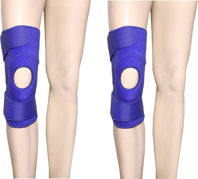 Applikon combo of open patela Knee Support (Free Size, Blue)