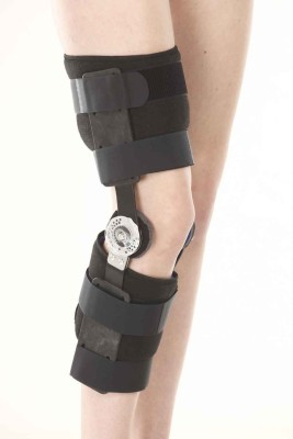 Zcare Pharma Rom Knee Brace Wrist Support (Free Size, Black)