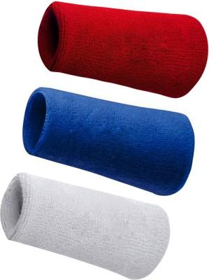 Verceys SportsBand Wrist Support (Free Size, Blue, White, Red)