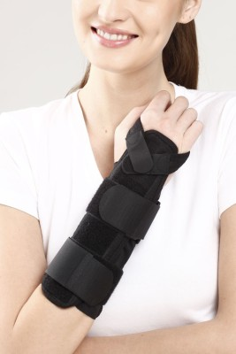 Tynor Forearm Splint Wrist Support (Free Size, Grey)