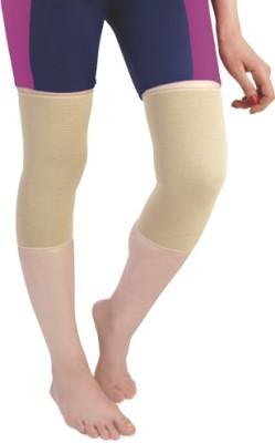Flamingo Premium Cap Knee Support (L, Beige)