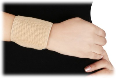 D4 Rehabilitation Wrist Binder With Double Lock Wrist Support (L, Blue, Brown)