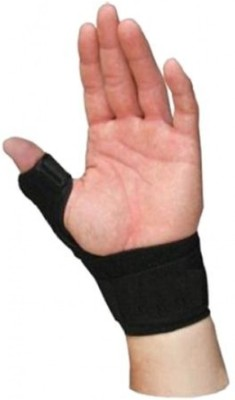 Relief Thumb Spika Splint (Left) Hand Support (Free Size, Black)
