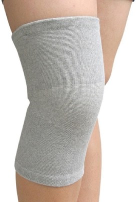 Pursho Combo Of 2 Bamboo Support Knee, Calf & Thigh Support (M, Grey)