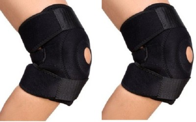 Asfit Knee Cap Wraps - Set of 2 Knee Support (Free Size, Black)