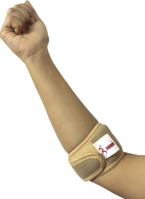 Healcure Tennis Elbow Support (Free Size, Beige)