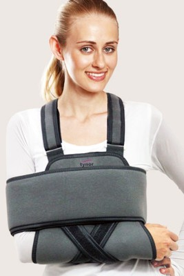 Tynor Universal Shoulder Immobiliser Shoulder Support (Free Size, Grey)