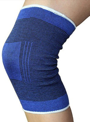 Fancy Steps Firm Compression Knee Support (L, Blue)
