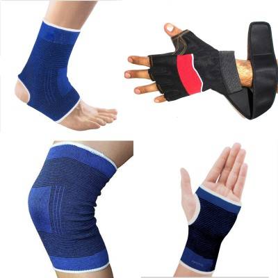 99DailyDeals R185 Palm, Elbow & Ankle Support (Free Size, Multicolor)