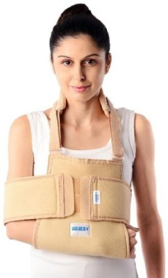 Vissco Universal Shoulder Immobilizer L Shoulder Support (L, Beige, Grey)
