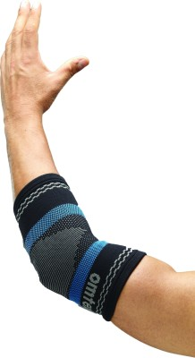 Omtex Superior Elastic Elbow Support (M, Black, Blue)