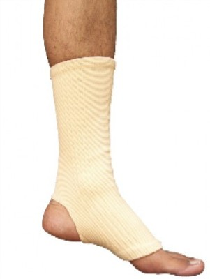 Wonder Care Anklet Tubular Brace Ankle Support (L, Beige)
