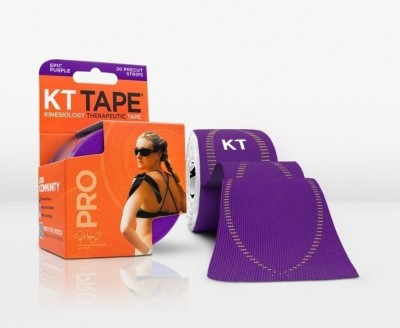 KT Tape Pro Pre-Cut 20 Strip Synthetic Epic Purple Ankle Support (Free Size, Purple)
