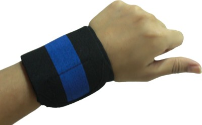 Healcure band Wrist Support (Free Size, Black, Blue)
