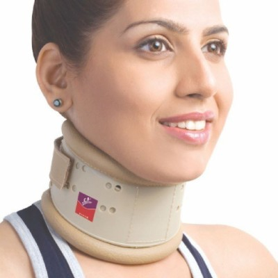 Flamingo Cervical Hard Collar With Height Adjustable Neck Support (L, Beige)