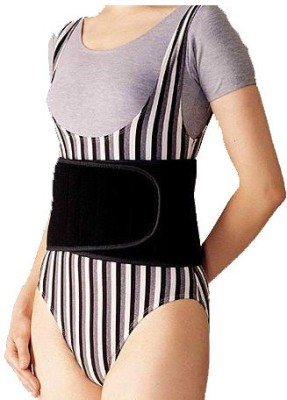 TURION Advance Abdominal Belt Neoprene Deluxe Black Back & Abdomen Support (M, Black)