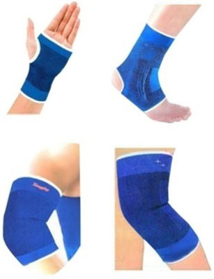 Gruvi Enterprises Support Palm, Elbow & Ankle Support (Free Size, Blue)