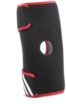 Adidas Knee Support (Free Size, Black, Red)