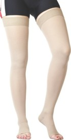 Flamingo Medical Compression Stockings Above Knee Knee, Calf & Thigh Support (L, Beige)