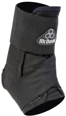 McDavid Ultra Light 195r Brace With Strap Ankle Support (XS, Black)