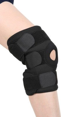 Stay-Fit Supports Nano Bamboo Charcoal Knee Support (Free Size, Black)