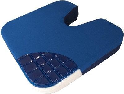 Lenvitz Coccydynia Cushion With Gel Top Back Support (Free Size, Blue)