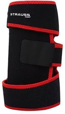 Strauss Adjustable Knee Support (Free Size, Black, Red)
