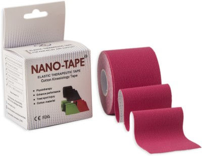 Nano-Tape Cotton Kinesiology Knee, Calf & Thigh Support (Free Size, Pink)