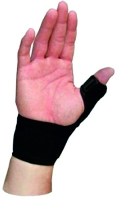 Relief Thumb Spika Splint - Right Hand Support (Free Size, Black)