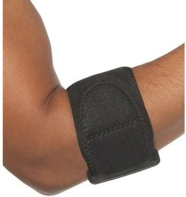 Ache Cure Elbow Belt Elbow Support (Free Size, Black)