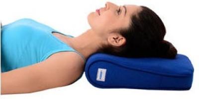 Vissco Cervical Pillow - Delux Neck Support (Free Size, Blue)