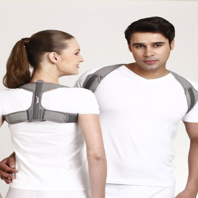 Tynor Clavicle Brace With Velcro Shoulder Support (L, Grey)