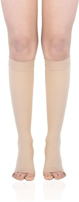 Bonjour Knee High Support Knee, Calf & Thigh Support (L, Brown)