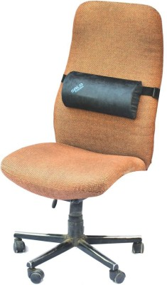 Salo Orthotics D-Shaped Cushion Back Support (Free Size, Black)