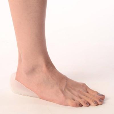 Vissco Silicon Heel Cushion UN Heel Support (Free Size, Beige, Grey)