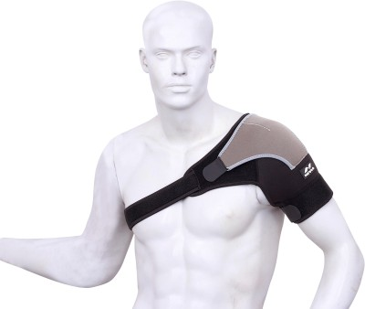 Nivia Performaxx Shoulder Support (Free Size, Black, Grey)
